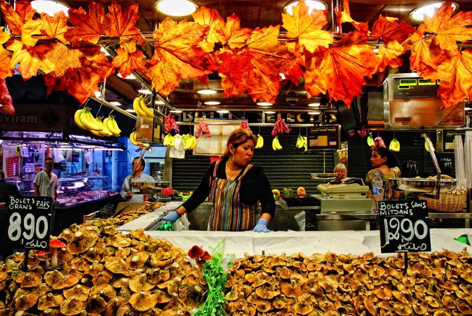 Der Markt bei den Ramblas